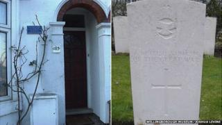 Mannock's home in Wellingborough and his possible grave