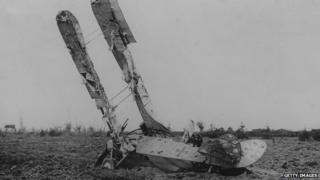 Crashed German plane
