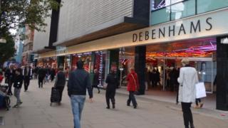 Debenhams store on Oxford Street