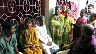 Gita Mandal and some of her village neighbours who also lost out in Ponzi schemes