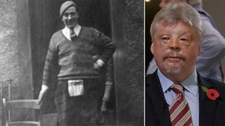 Walter Weston in his kilt - and Simon