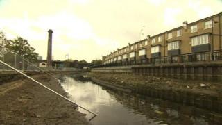Part of Regents Canal in east London