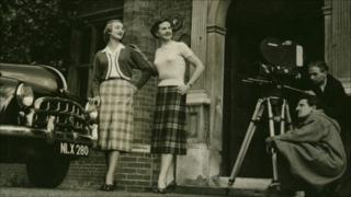 Models in original Pringle knitwear (picture courtesy of Pringle of Scotland)