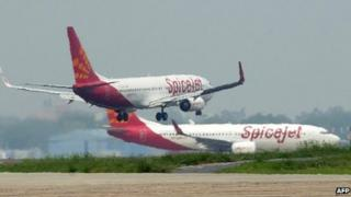 SpiceJet planes on tarmac