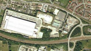 The old Hotpoint site off Royal Welch Avenue in Bodelwyddan