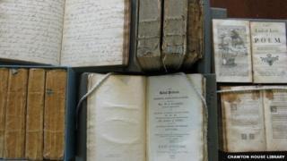 Tatty books at the Chawton House Library