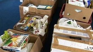 Food bank parcels