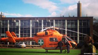 Magpas helicopter at College of West Anglia