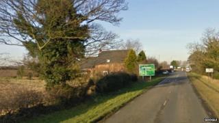 A1173 near Riby