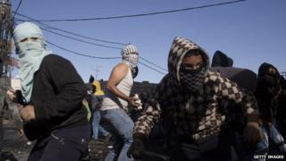 Palestinian youths in Jerusalem 7 Nov