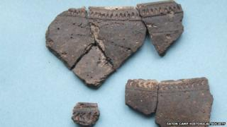 Some of the Iron Age pottery