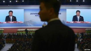 China's President Xi Jinping speaks to the Apec summit