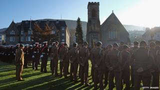 Veterans and the Armed Services gathered across Scotland, including at this service in Fort William