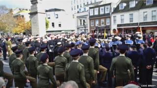 Remembrance Sunday on Jersey