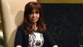 President Cristina Kirchner in New York in September 2014