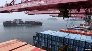 Container port in S Korea