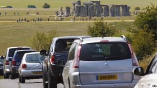 Summer traffic on the A303