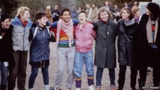Activists at Greenham Common