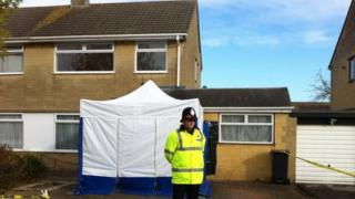 House on Ashbury Avenue, Swindon being searched in Becky Godden murder case