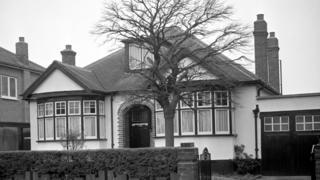The Krogers' bungalow in Ruislip, 1961