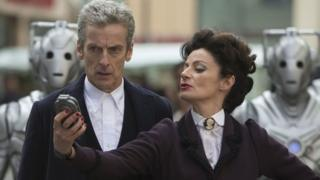 Peter Capaldi and Michelle Gomez in Doctor Who
