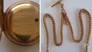 The pocket watch and chain