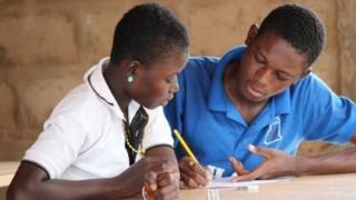 Drawing workshop in Ghana