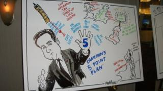 Cartoon on display at CBI conference