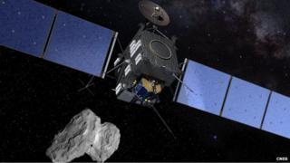 Artist's impression of Rosetta and Philae