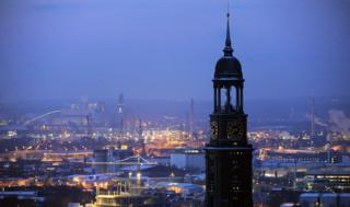 Skyline of Hamburg