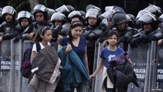 Mexico missing: Protesters block Acapulco airport