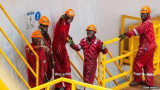 Cairn Energy oil workers in Senegal