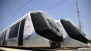 Dubai's new tram cars