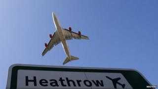 Plane taking off from Heathrow