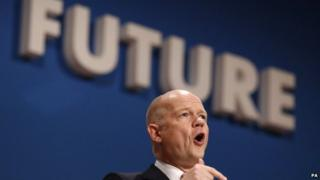 William Hague speaking at the Conservative Party conference in September