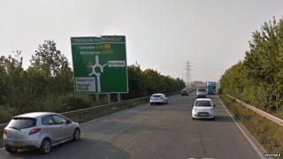 The A46 near Newar