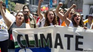 Crowds protest in Brisbane over climate change ahead of the 2014 G20 summit - 11 November 2014