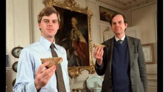 The 11th Earl of Sandwich, John Montagu, and his son, Orlando