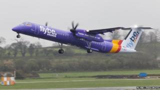 Flybe passenger plane