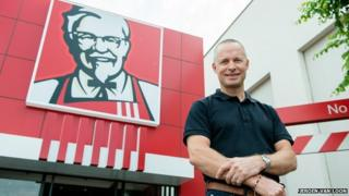 Doug Smart from KFC outside one of the company's restaurants in Johannesburg