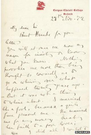 Letter from John Ruskin