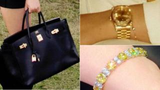 Bag, watch and bracelet taken in the burglary