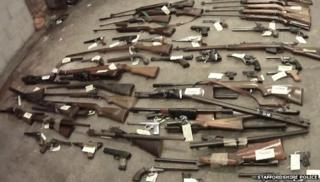 The gun haul