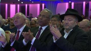 Ken Livingstone, Lutfur Rahman and George Galloway