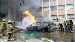 Attack against Guerrero state congress in Chilpancingo