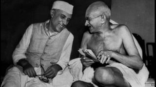 Papers say India needs to preserve the legacy of leaders like Jawaharlal Nehru, left, and Mahatma Gandhi