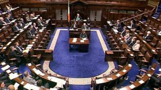 Irish parliament debate