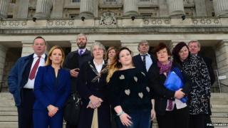Delegation that travelled to Stormont
