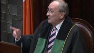 Ceann Comhairle of Dáil Éireann Sean Barrett