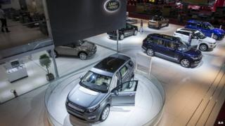 JLR exhibition stand at the Sao Paulo Car Show